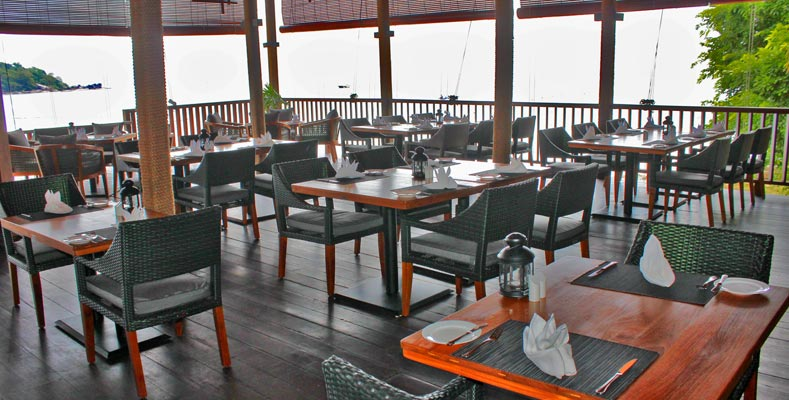 Berjaya Langkawi Resort - Beach Brasserie - Dining Area Overlooking Sea
