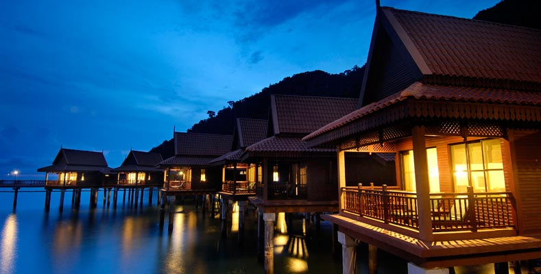 Berjaya Langkawi Resort - Premier Chalet on Water - Facade at Night
